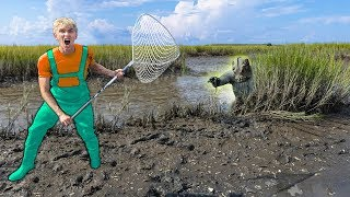 Download SEARCHING for POND MONSTER USING SPY GADGETS!! (Located Giant Nest in Swamp) Video