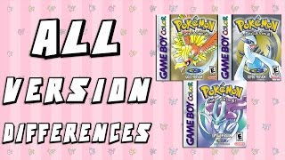 Download All Version Differences in Pokemon Gold, Silver & Crystal Video