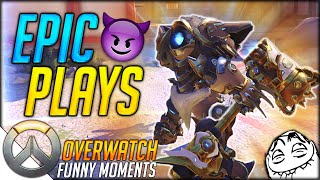 Download WORLD'S MOST EPIC REINHARDT PLAY w/ Bodil40 & Vikkstar123 | Overwatch Competitive Funny Moments #1 Video