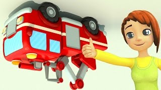 Download Animation. Car School. 3D cartoon and Animated series. How to be a Fire Truck. Video