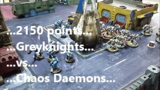 Download Greyknights and Space Marine allies vs Daemons; Warhammer 40k battle report Video