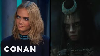 Download Cara Delevingne Got Naked To Get Into Character As The Enchantress - CONAN on TBS Video
