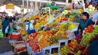 Download Peru Local Market STREET FOOD Tour of San Pedro Market in Cusco Video