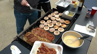 Download Breakfast on the BlackStone Griddle - The Hungry Man Special Video