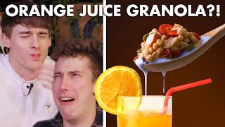 Download Best Way to Have Granola: with Orange Juice🍊 Vs Coffee☕️ Vs Hot Chocolate🍫 Video