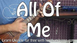 Download All of Me - John Legend (Easy Ukulele Tutorial) Video