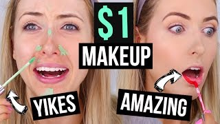 Download FULL FACE $1 MAKEUP || What Worked & What DIDN'T Video