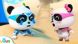 Download Help! Baby Panda's Trapped in Sand Storm | Super Panda Rescue Team | Cartoon for Kids | BabyBus Video