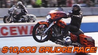 Download $10,000 Harley Grudge Race - Turbo Street Glide vs Nitrous Street Glide Video