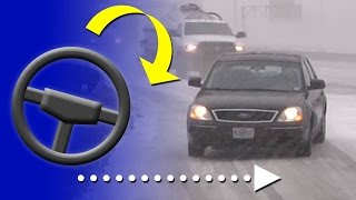 Download How to correct a slide on an icy road (and how to prevent them) - Winter driving education Video
