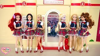 Download Barbie doll School Setting up with Barbie Science Lap Playset & Barbie Art Studio Playset Video
