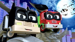 Download Frank and Baby Frank are BATMAN and ROBIN : Tom The Tow Truck's Paint Shop | Truck cartoons for kids Video