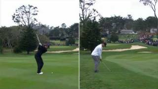 Download Woods & Romo's approach on No. 16 in Round 3 of AT&T Pebble Beach Video