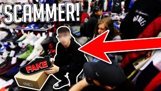 Download SCAMMER SELLING FAKE YEEZYS EXPOSED AT SNEAKERCON Video