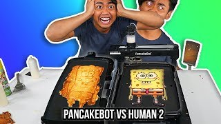 Download I Tried To Pancake Art Vs A Pancake Art Robot (Round 2) Video