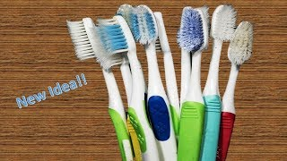 Download How to Reuse Old Waste Toothbrush at home | Best out of waste | Waste material craft Video
