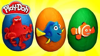Download FINDING DORY Play Doh Surprise Eggs Opening with Dory, Marlin and Hank Toys Video