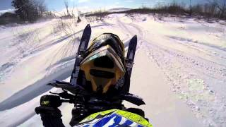 Download Snowmobile river run ends bad Video