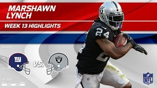 Download Marshawn Lynch Lights Up NY w/ 121 Total Yds & 1 TD! | Giants vs. Raiders | Wk 13 Player Highlights Video
