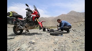 Download VLOG 30 - Africa Twin RTW the bike can swim Video