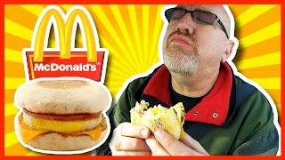 Download McDonald's ♥ Egg McMuffin Breakfast ♥ with Hash Browns & Coffee Video