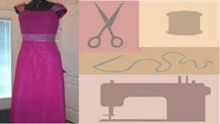 Download Hem a Chiffon Dress or Formal Gown With a Sewing Machine - Quick and Easy! Video