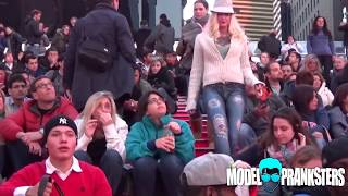 Download Girl Walks Around NYC With No Pants! Video