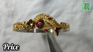 Download latest gold loha badhano design with price    gold bangles designs with price Video