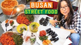 Download KOREAN STREET FOOD at Gukje Market in Busan Video