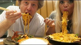 Download BEST NOODLES IN VEGAS MUKBANG! W/ MY BOYFRIEND | EPIC CHINESE FOOD EATING SHOW Video