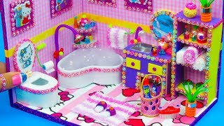Download DIY Miniature Hello Kitty Bathroom Video