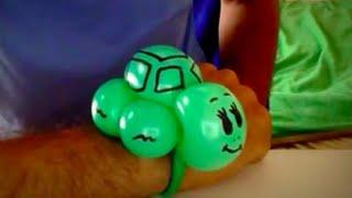 Download Sosis balondan kaplumbağa bileklik nasıl yapılır? - Sosis balon şekilleri Video