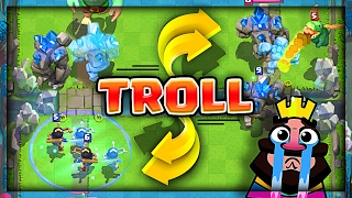Download GOLEM PRINCESS TROLLING • Clash Royale Mirror Clone Trolling Video