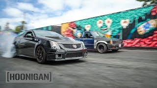 Download [HOONIGAN] DT 063: Twin Turbo Pickup VS 1000HP CTSV #SPACERACE Video