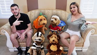 Download MY PUPPY TRIES ON HALLOWEEN COSTUMES FOR THE 1ST TIME! *GONE WRONG* Video