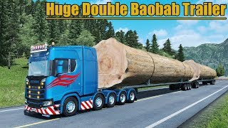 Download ✅ Euro Truck Simulator 2 - HUGE Double Baobab Trailer 116 Tons Video