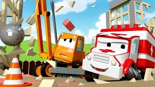 Download Amber der Krankenwagen - Dane der Abrisskran - Autopolis 🚒 Lastwagen Zeichentrickfilme für Kinder Video
