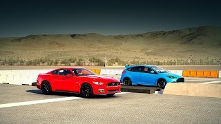 Download 2016 Ford FOCUS RS vs 2015 Ford MUSTANG GT Drag Race | Forza 6 Video