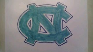 Download How To Draw North Carolina Tar Heels Logo Sign Step By Tutorial For Begainners Kids Video