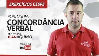 Download Português: Concordância Verbal - Exercícios Cespe - Professor Jean Aquino Video