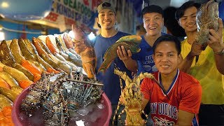 Download FRESHEST SEAFOOD FEAST! INSANE Seafood Meal at Dampa Market Manila Philippines Video