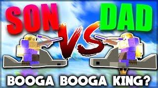 Download PRO VS NOOB *SON VS DAD* IN BOOGA BOOGA (New Giveaway) | Roblox: Booga Booga Video