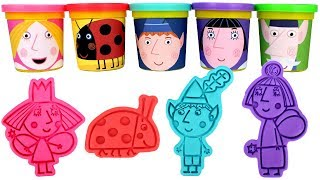 Download Ben and Holly Play Doh Cans & Molds Learn Colors with Ben Elf Princess Holly Nanny Plum Gaston Video