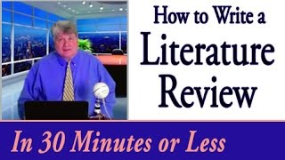 Download How to Write a Literature Review in 30 Minutes or Less Video