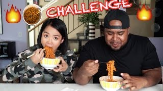 Download Tiny Asian Girl VS Big Black Man: Spicy Ramen Challenge Video