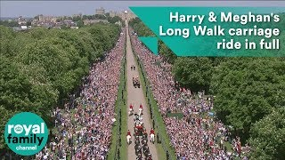 Download Royal Wedding: Harry and Meghan's Long Walk carriage ride in full Video