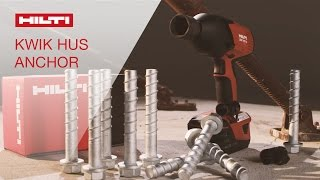 Download DEMO of the Hilti Kwik HUS screw anchor and reusability gauge Video