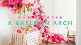 Download How to create a beautiful balloon arch Video