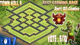 Download Best Th9 farming base champion. Town hall 9 New Update Clash Of Clans 2017 Video