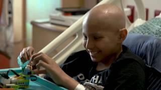 Download 'Lego Guy' helps sick kids focus on fun, not illness Video